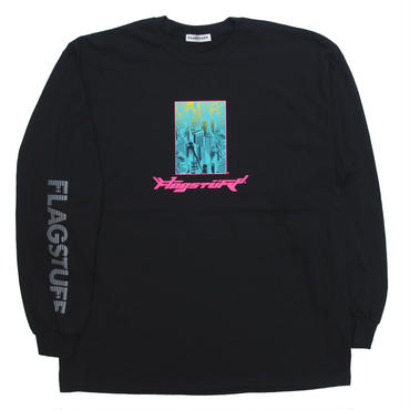 "F-LAGSTUF-F / ""Bottled city"" L/S Tee 1 (black)"