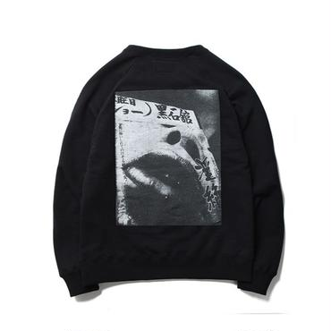WACKO MARIA ×森山大道  / WASHED HEAVY WEIGHT CREW NECK SWEAT SHIRT(TYPE-1 : black)