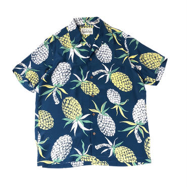 "WACKO MARIA / ""PINEAPPLE"" S/S HAWAIIAN SHIRT (blue)"