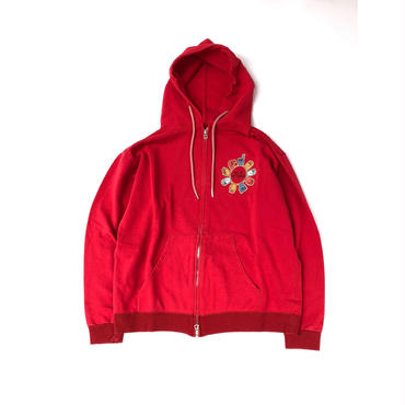 THREE FACE /  ZIP UP PARKA (red)