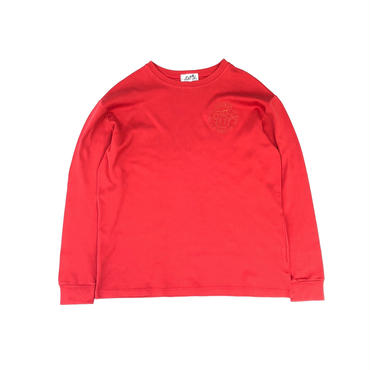 HERMES /  Embroidery L/S T-shirt (red) (spice)