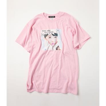 ZATUON x 川崎あや / illusion ss tee (pink)