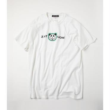 ZATUON x 川崎あや / panda ss tee (white)