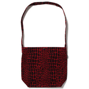 "WACKO MARIA "" CORDUROY SHOOLDER BAG ""  (RED)"