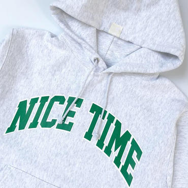 "tr.4 suspension / ""NICE TIME"" College Logo PULLOVER HOODED SG"