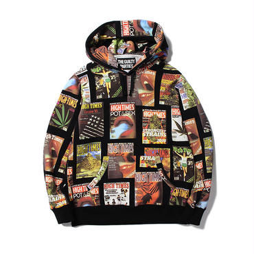 WACKO MARIA / HIGHTIMES x WACKOMARIA HEAVY WEIGHT PULLOVER HOODED SWEAT SHIRT (type-1)(black)