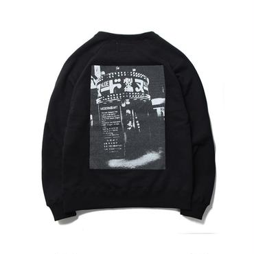 WACKO MARIA ×森山大道  / WASHED HEAVY WEIGHT CREW NECK SWEAT SHIRT(TYPE-4 : black)