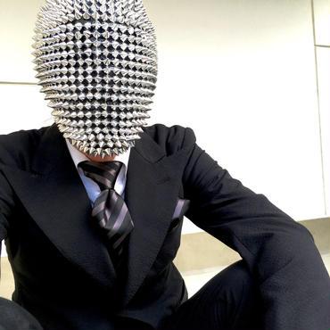 Oguri Original ネクタイ&ポケットチーフ レジメンタル ブラック×グレー