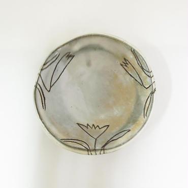 粉引き草文豆皿《S皿1k1-1~5》
