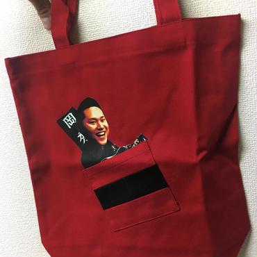 【トートバッグ】赤・黒 2色
