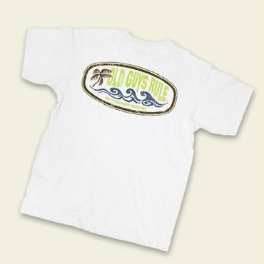 OG883 white Vacation Waves (POCKET TEE)