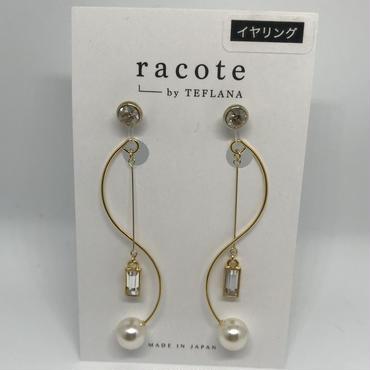 【racote】イヤリング/ゆる巻きイヤリング/クリア