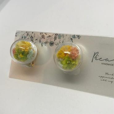 【picabuu】イヤリング/ガラスドーム(かすみ草)④