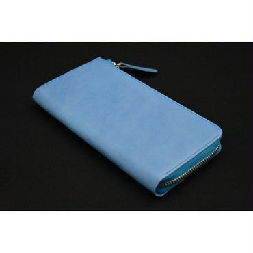 QUAD STAR  Lジップモバイルパース TEMPESTI  larimar blue