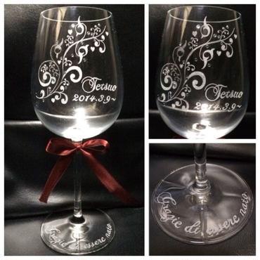 お祝いワイングラス