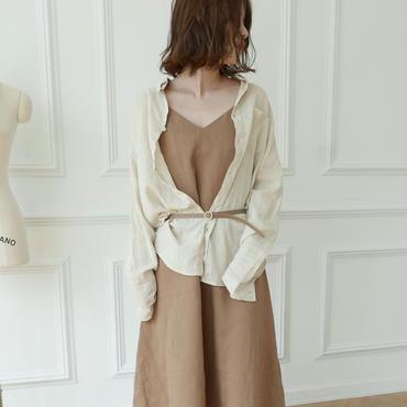 予約/7月中旬】linen basic shirt