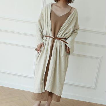 【予約/7月中旬】long linen gown