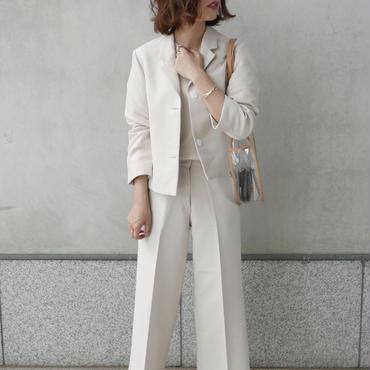【予約/5月中旬】ivory straight slacks