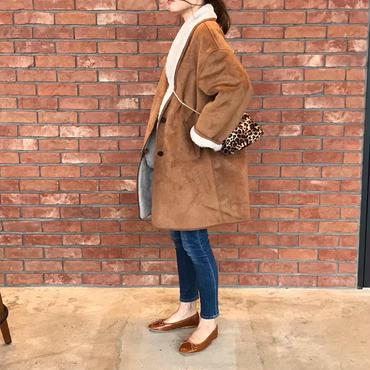 【即納】ムートンタッチbrown coat