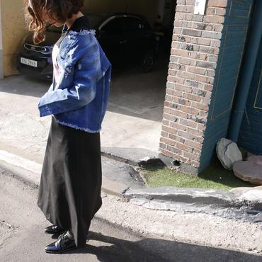 【即納】ダメージ denim jacket