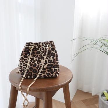 【即納】レオパードmini bag