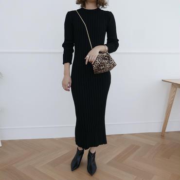 【即納】black knit OP