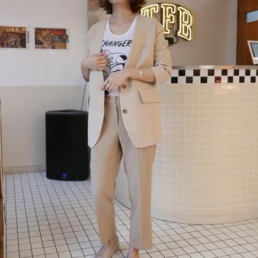 【予約/5月中旬】ノーカラージャケット