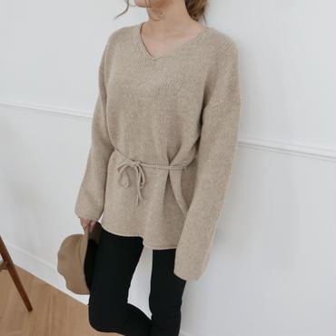 【予約商品】waist ribbon knit