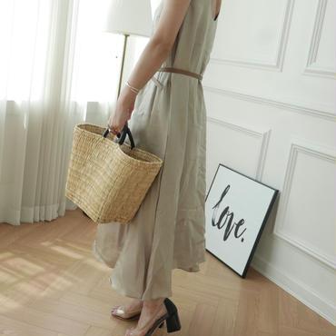 【予約/7月中旬】satin classic dress