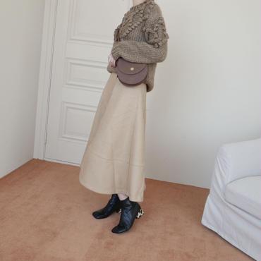 【予約商品】leopard heel boots