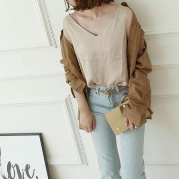【予約/7月中旬】linen バンドカラーshirt