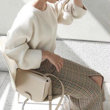 【予約商品】ボリュームリブ knit