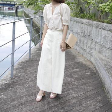 【予約/7月中旬】wide fringe linen PT