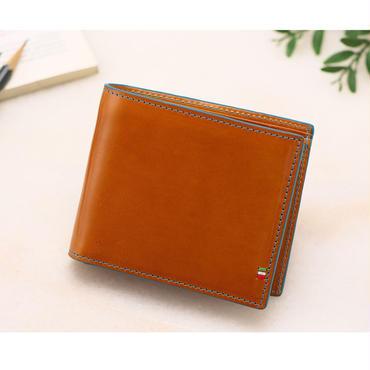 GORBE イタリアンレザー二つ折り財布(ターコイズ)
