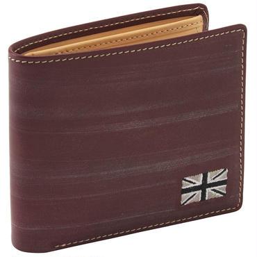 GORBE ブライドルレザー二つ折り財布(ユニオンジャック刺繍付プレミアムモデル)