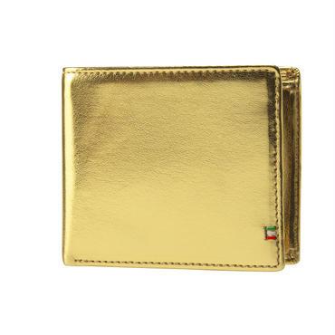 GORBE ゴールドイタリアンレザー二つ折り財布