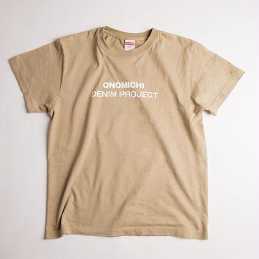 ONOMICHI DENIM T-SHIRT SAND-KHAKI