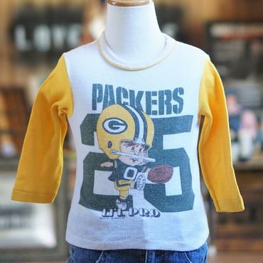 70sヴィンテージグリーンベイパッカーズフットボールTシャツ