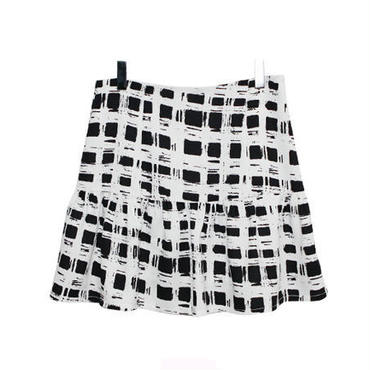 Black Checked Skirt