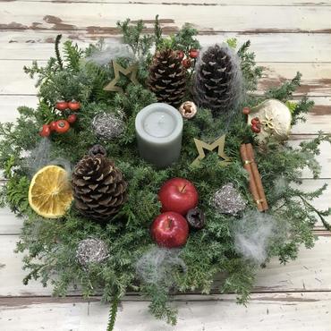 クリスマスキャンドルリース 卓上用   ご注文を頂いてからお作りいたします!