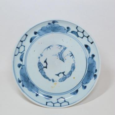 伊万里格子と牡丹文皿