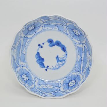 伊万里線描花文なます皿