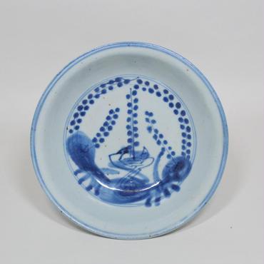 青花梅鳥文鉢