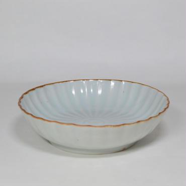 伊万里 白磁菊型なます皿