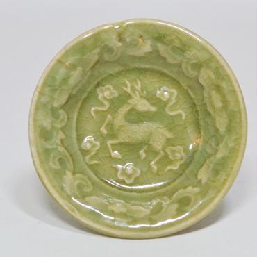 三田青磁豆皿