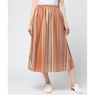 スパンボイルストライプスカート 10123020