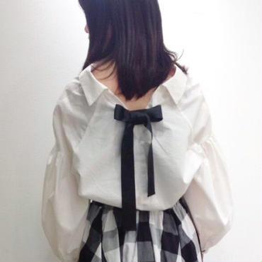 高密度バックリボンシャツ 10384001