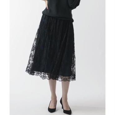刺繍レースラップ風スカート(10123018)