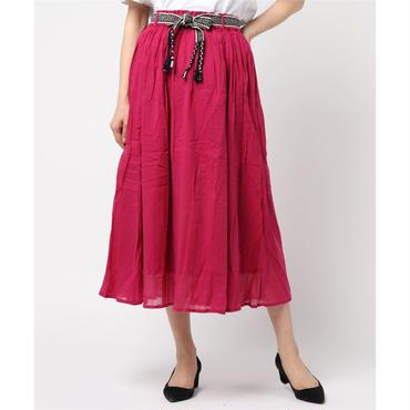 綿ボイルベルト付スカート 10124038