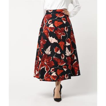 リゾートフラワープリントスカート 10325001